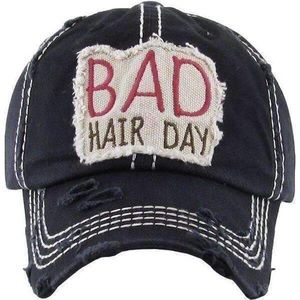 Accessories - Vintage black bad hair day baseball hat